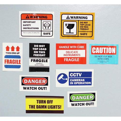 Decorative caution sticker