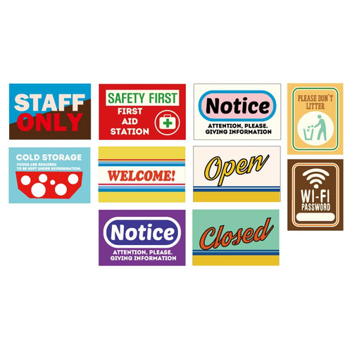 Composition of Decorative sign sticker set