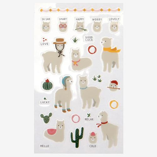 Daily transparent sticker - Alpaca