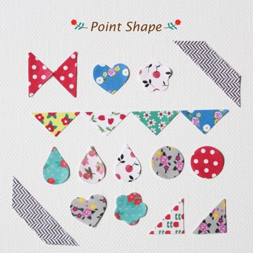 Composition of Point shape deco paper sticker