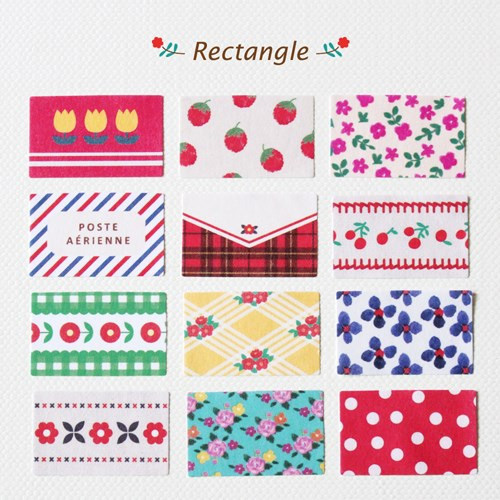 Rectangle deco paper sticker