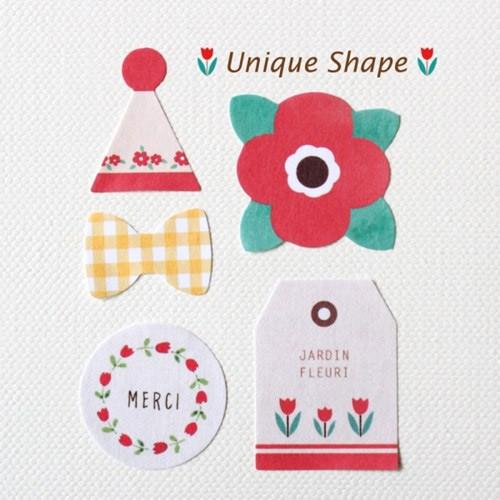 Unique Shape deco paper sticker