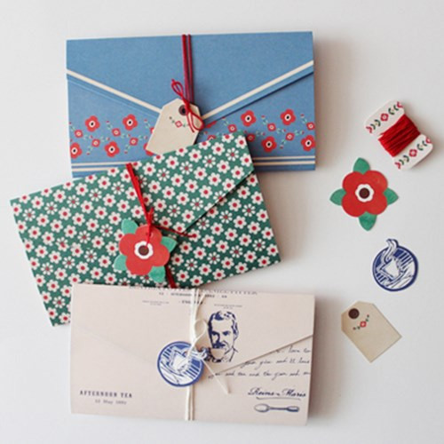 Letter card with label and string