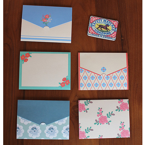 1972 pattern small folded card set