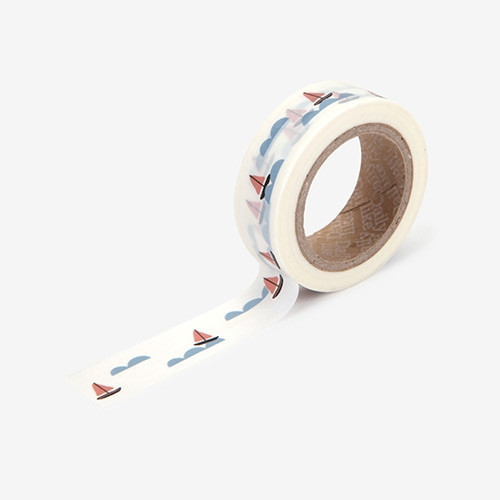 "Deco 0.59""X11yd masking tape single - Boat"