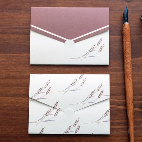 Wheat pattern small folded card