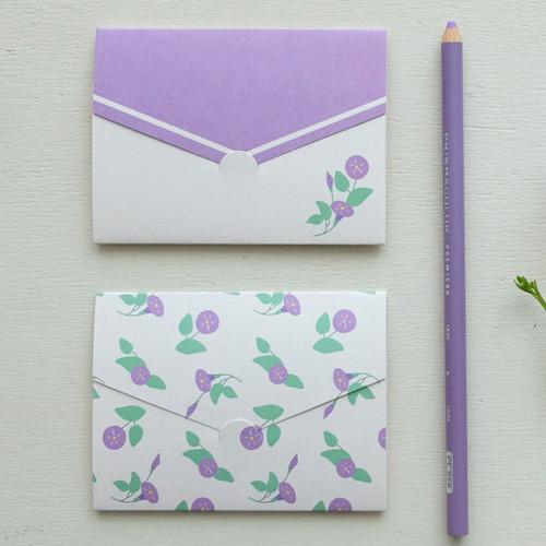 Morning Glory pattern small folded card