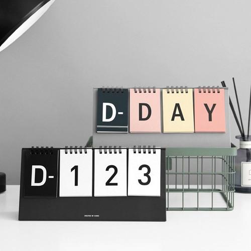 Simple flip perpetual standing desk calendar