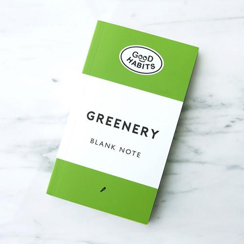 Good habits Greenery plain notebook