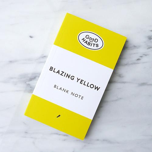 Good habits Blazing yellow plain notebook