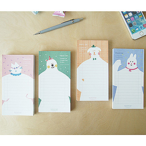 Sunshine blanket checklist notepad