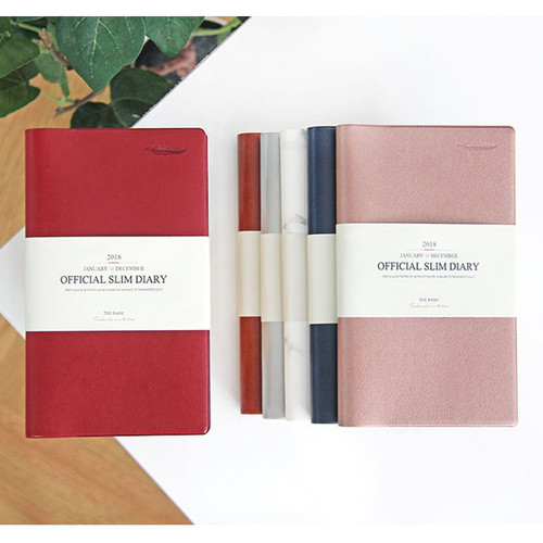 The Basic official slim undated weekly diary