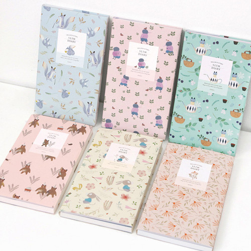 Willow pattern slim undated diary scheduler