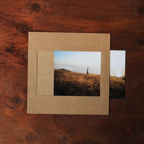 Square 4X6 kraft paper photo frame set o
