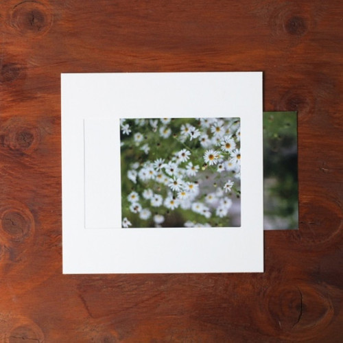 Square 4X6 White paper photo frame set