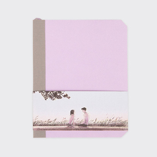 Violet ribbony 4 month undated monthly planner