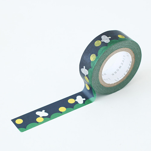 "Piyo moon bird 0.59""X11yd single deco masking tape"