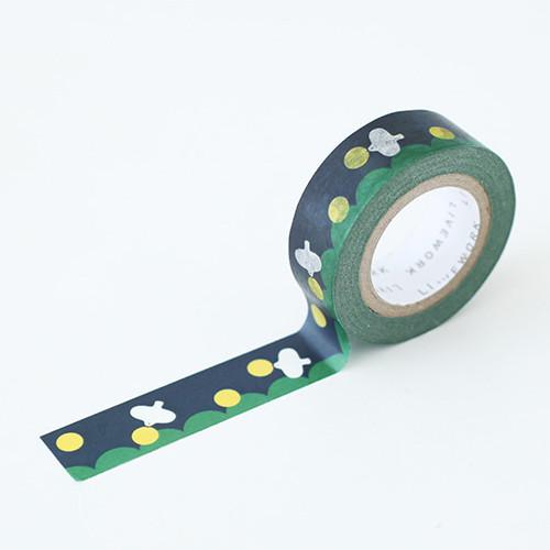 "Piyo moon bird 0.59""X11yd single deco masking tape"