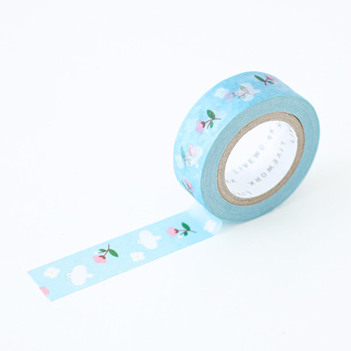 "Piyo april day 0.59""X11yd single deco masking tape"