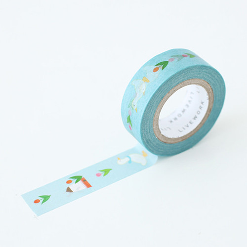 "Piyo tulip garden 0.59""X11yd single deco masking tape"