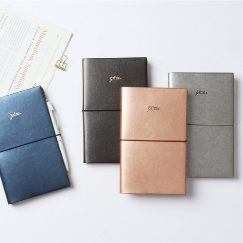 Glitter medium undated weekly diary