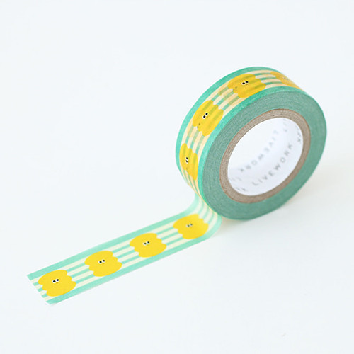 "Som Som yellow bubble 0.59""X11yd single deco masking tape"