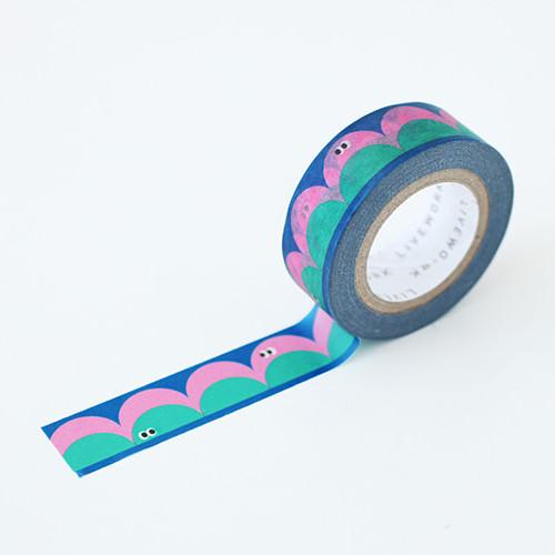 """Som Som round 0.59""""X11yd single deco masking tape"""