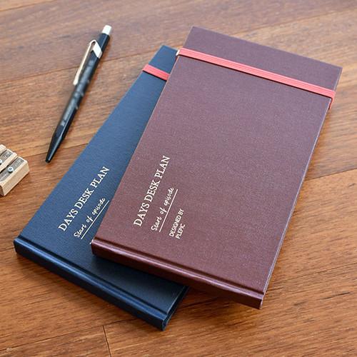 Days desk hardcover undated weekly planner