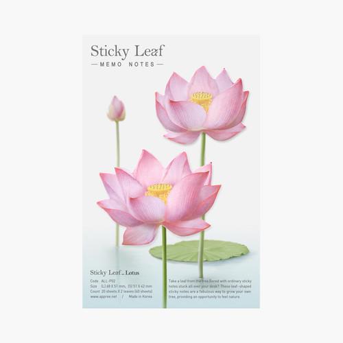 Pink - Lotus medium sticky memo note