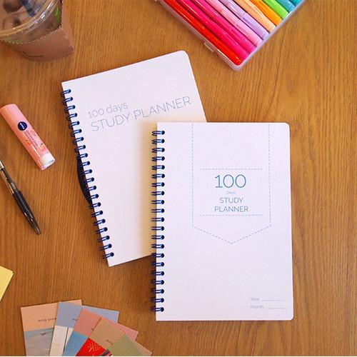 Simple 100 days study planner scheduler