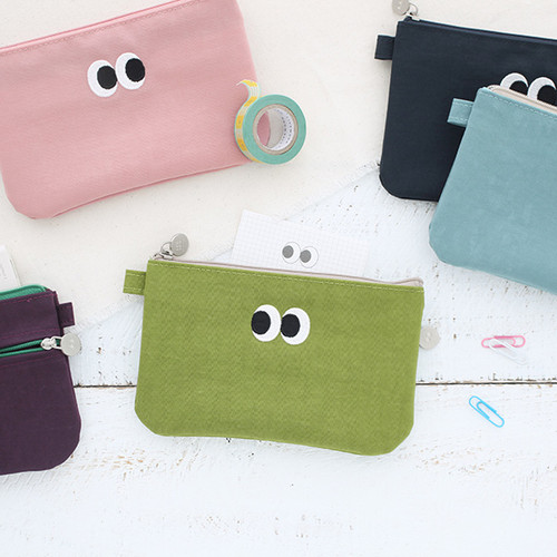 Som Som stitch pocket zipper pouch