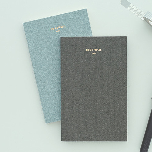 Life and pieces simple lined notebook