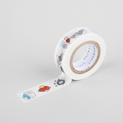"Todac Todac don't cry 0.59""X11yd single deco masking tape"