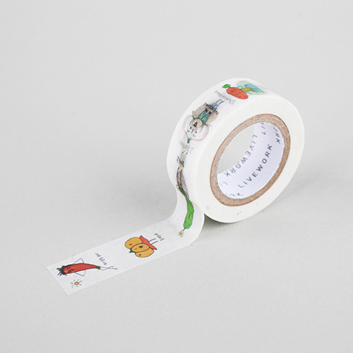"""Todac Todac vegetable 0.59""""X11yd single deco masking tape"""
