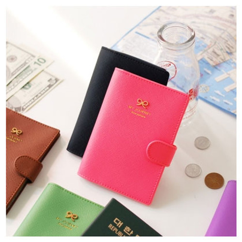 Ribbon passport holder cover