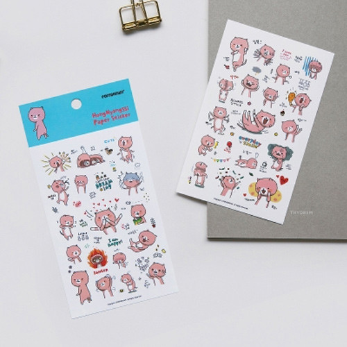 PONYBROWN Hongnyangssi cute illustration paper sticker