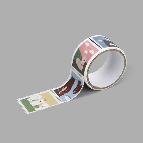 Dailylike Animal 2 deco single stamp masking tape