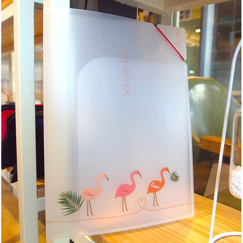 N.IVY Flamingo translucent document file folder