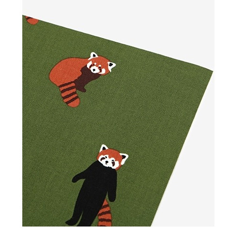 Dailylike Deco fabric sticker 1 sheet A4 size - Lesser panda