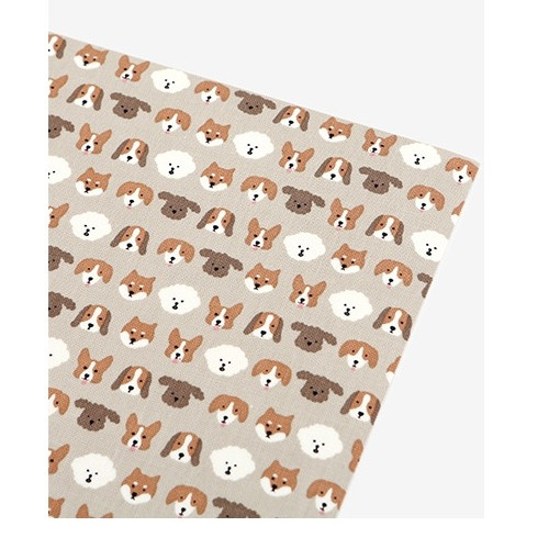 Dailylike Deco fabric sticker 1 sheet A4 size - Puppy