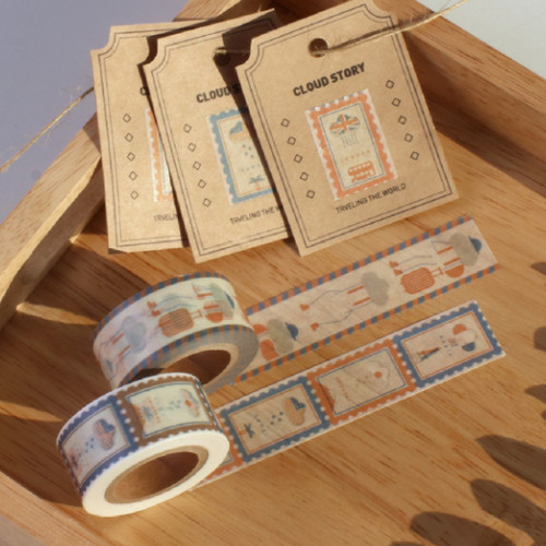 After The Rain Cloud story single deco masking tape - Travel