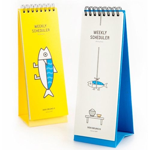 DESIGN IVY Ggo deung o spiral undated weekly desk scheduler note