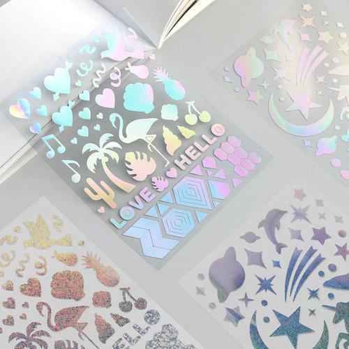 ICONIC Hologram deco PVC sticker set
