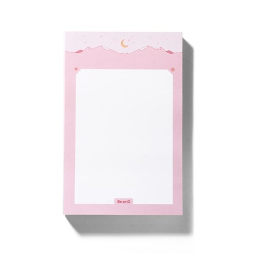 After The Rain Star and moon pink mountain memo notepad