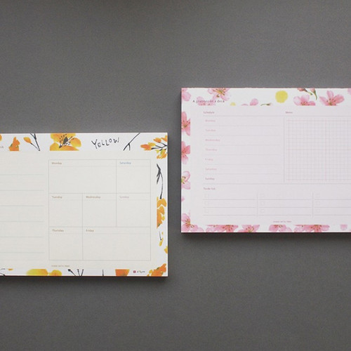 Hello Today A planner on a desk undated weekly scheduler notepad