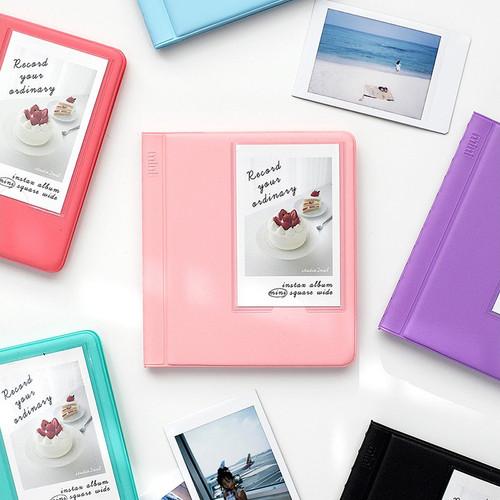 Colorful Instax mini medium slip in pocket photo album
