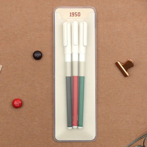 Bookfriends 1950 Retro color 0.38mm gel pen set