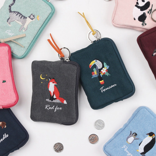 Wanna This Tailorbird pastel card case wallet