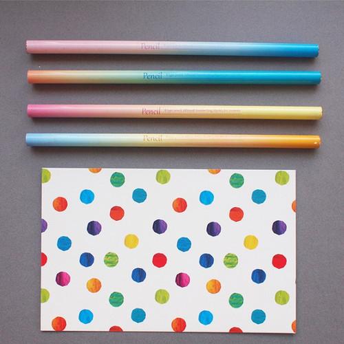By gradation B black lead pencil set