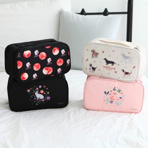 Rim travel underwear and bra pouch bag